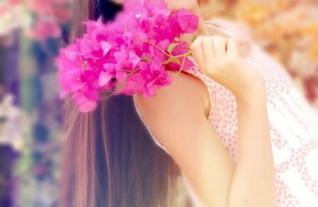 בוק בת מצווה בפרחים