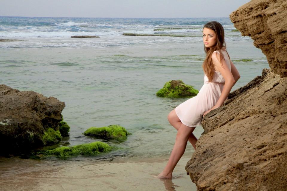 צילום בוק בת מצווה על חוף הים
